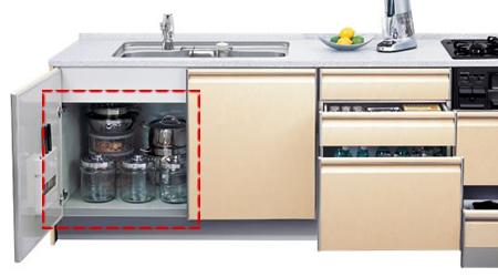 シンク下設置の食洗機