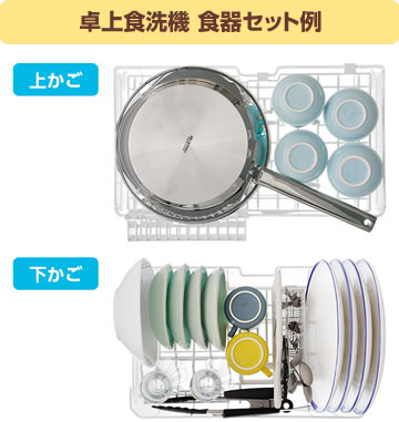 卓上食洗機 食器セット例