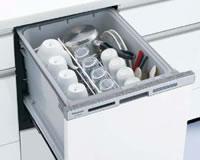 スライドタイプのビルトイン食器洗い機