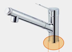 LIXILのキッチン水栓タイプ1: