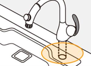 TOTOのキッチン水栓タイプ1:
