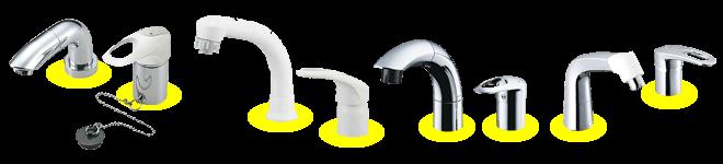 ツーホールタイプ コンビネーション水栓