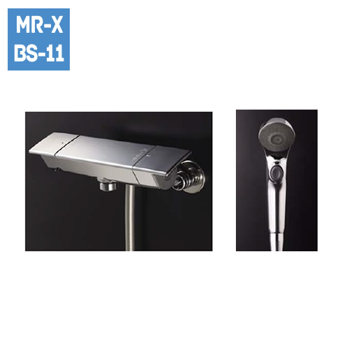 ワイドスクエア水栓 メタルハンドル+メタルワンタッチシャワーヘッド